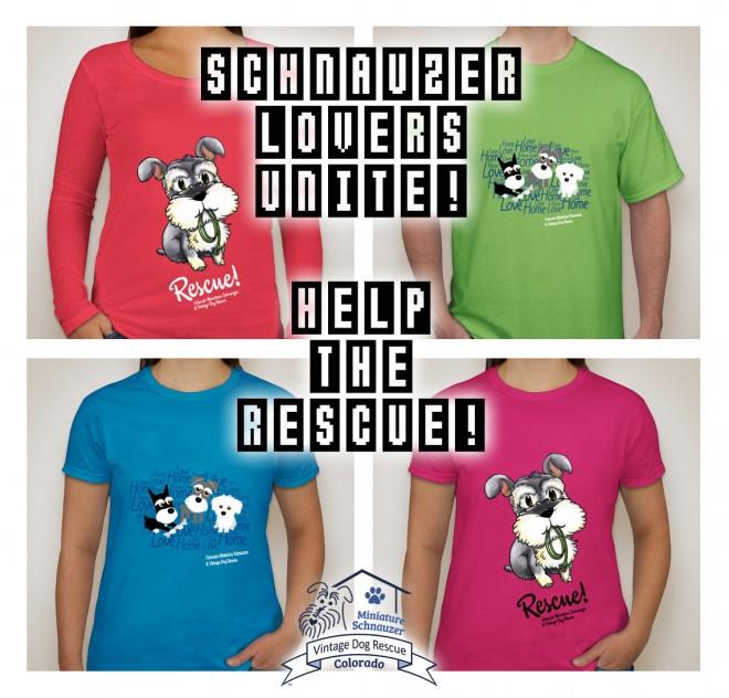 Mini Schnauzer Rescue T-Shirts