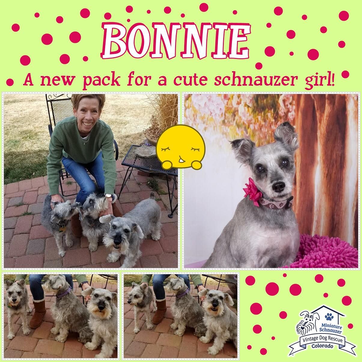 Bonnie was adopted!