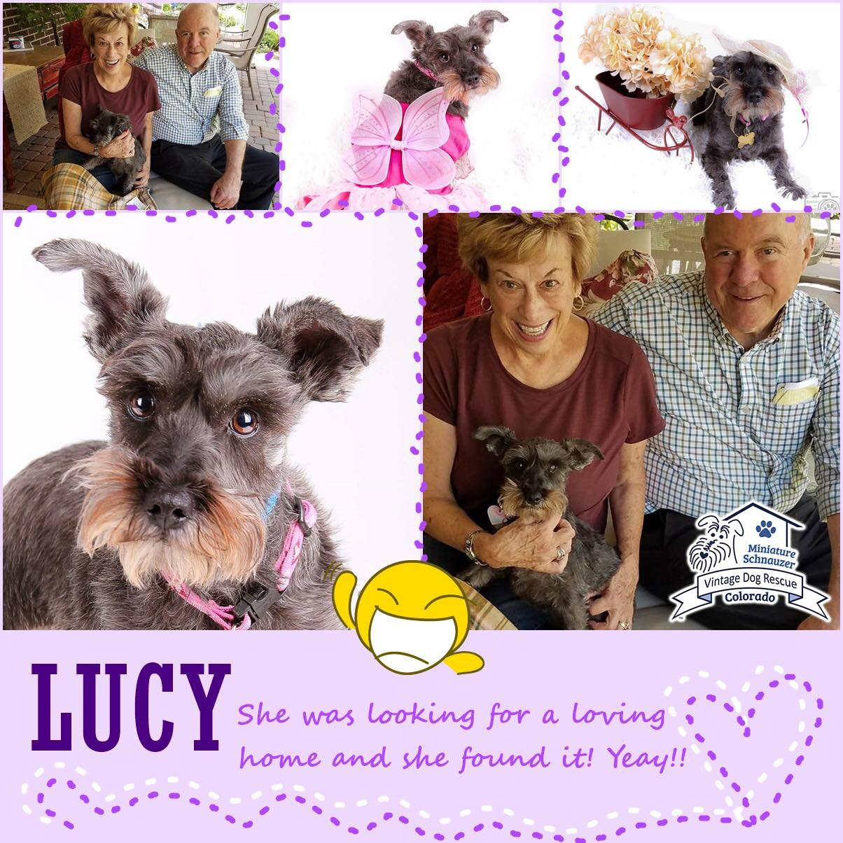 Lucy was adopted!